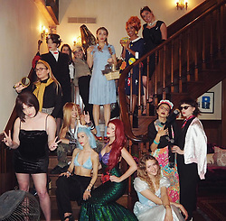 """Taylor Swift releases a photo on Instagram with the following caption: """"Mary Poppins, Audrey, Ariel, Ms. Frizzle, Cinderella, Gwen, Mr. Toad, Avril, Nancy Drew, Posh Spice, Rizzo, Frida Kahlo, Steve Irwin, Dorothy.. This new year we decided to dress up as our childhood heroes. Sending you all love and hope going into 2019 \ud83d\udc97"""". Photo Credit: Instagram *** No USA Distribution *** For Editorial Use Only *** Not to be Published in Books or Photo Books ***  Please note: Fees charged by the agency are for the agency's services only, and do not, nor are they intended to, convey to the user any ownership of Copyright or License in the material. The agency does not claim any ownership including but not limited to Copyright or License in the attached material. By publishing this material you expressly agree to indemnify and to hold the agency and its directors, shareholders and employees harmless from any loss, claims, damages, demands, expenses (including legal fees), or any causes of action or allegation against the agency arising out of or connected in any way with publication of the material."""