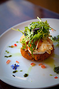 Lobster on Salmon cake, Marlborough, South Island, New Zealand