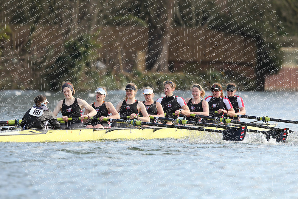 2012.02.25 Reading University Head 2012. The River Thames. Division 1. Thames Rowing Club W.Sen8+
