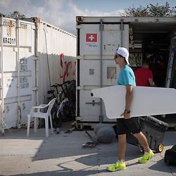 Brazil Rio de Janeiro 18. August 2016 Marina di Gloria, Rio 2016 Olympic Games<br /> Preparation day<br /> <br /> <br /> ©Jürg Kaufmann go4image.com