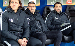 20.10.2016, Red Bull Arena, Salzburg, AUT, UEFA EL, FC Red Bull Salzburg vs OGC Nizza, Gruppe I, im Bild Co Trainer Rene Aufhauser (FC Red Bull Salzburg), Trainer Oscar Garcia (FC Red Bull Salzburg), Co Trainer Ruben Martinez (FC Red Bull Salzburg) // Co Trainer Rene Aufhauser (FC Red Bull Salzburg), Trainer Oscar Garcia (FC Red Bull Salzburg), Co Trainer Ruben Martinez (FC Red Bull Salzburg) during the UEFA Europa League group I match between FC Red Bull Salzburg and OGC Nizza at the Red Bull Arena in Salzburg, Austria on 2016/10/20. EXPA Pictures © 2016, PhotoCredit: EXPA/ JFK