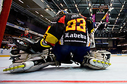 View on Thomas Ower of Germany from netcam at IIHF In-Line Hockey World Championships Quarter final match between national teams of Sweden and Germany on July 1, 2010, in Karlstad, Sweden. (Photo by Matic Klansek Velej / Sportida)