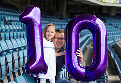Repro Free: 29/06/2013<br /> Millie Pitcher (3) from Mahahide Co Dublin who received a kidney transplant only 5 weeks ago is pictured with her Dad and kidney donar Alan at a special event in Croke Park to mark 10 years of kidney transplantation at Temple Street. 80 of these children have received a transplant at Temple Street since 2003; 22 from a living donor (a parent or close relative) and 58 from a deceased donor (when the kidney is retrieved from someone who has died but who carried a donor card.) Over the ten years, the youngest recipient of a new kidney was two years of age and the oldest was 17 years. Picture Andres Poveda