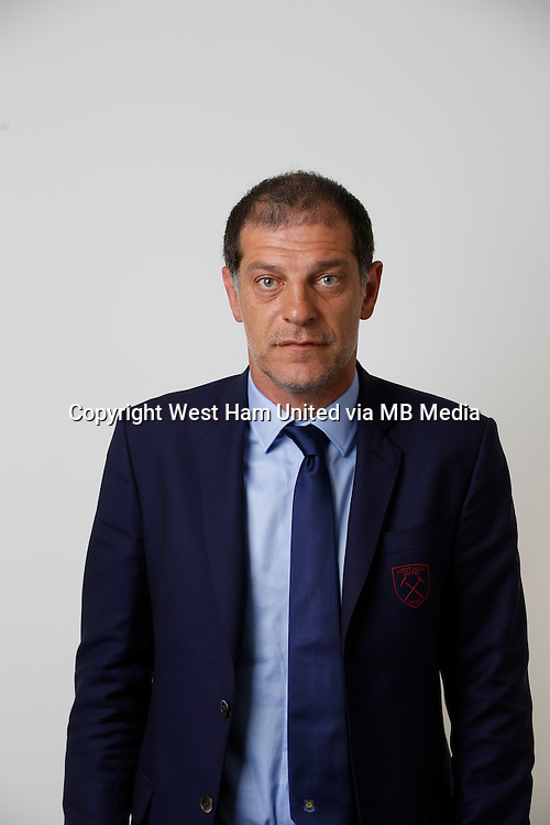 LONDON, ENGLAND - AUGUST 06:  Slaven Bilic, Manager of West Ham poses during a Premier League portrait session on August 6, 2016 in London, England. (Photo by Tom Shaw/Getty Images)