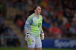 NEWPORT, WALES - Tuesday, September 3, 2019: Northern Ireland's goalkeeper Emma Higgins during the UEFA Women Euro 2021 Qualifying Group C match between Wales and Northern Ireland at Rodney Parade. (Pic by David Rawcliffe/Propaganda)