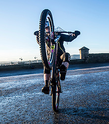 Stunt bike rider and Skye's very own spirit of Scotland Danny MacAskill on Edinburgh Castle esplanade. VisitScotland has brought the spirit of Scotland to life with its biggest ever global campaign and social movement, with the #ScotSpirit activity forming the main focus and VisitScotland's bid to build the #ScotSpirit movement.