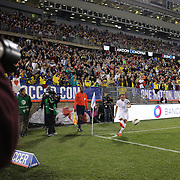 Landon Donovan, USA, in his farewell match during the USA Vs Ecuador International match at Rentschler Field, Hartford, Connecticut. USA. 10th October 2014. Photo Tim Clayton