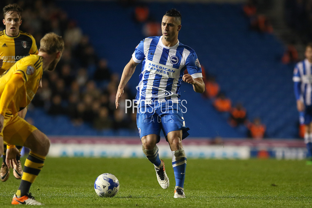 Brighton central midfielder, Beram Kayal (7) during the Sky Bet Championship match between Brighton and Hove Albion and Fulham at the American Express Community Stadium, Brighton and Hove, England on 15 April 2016. Photo by Phil Duncan.