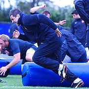 The French team training at Onewa Domain, Auckland in preparation for the Rugby World Cup Final against New Zealand at the IRB Rugby World Cup tournament, Auckland, New Zealand, 19th October 2011. Photo Tim Clayton...
