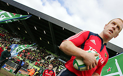 Paul O'Connell leads Munster onto the pitch. Montauban v Munster,  Heineken Cup Pool A match in Montauban, France.