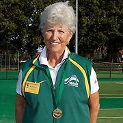 Margaret Robinson, Australia, 75 Womens Singles Winner during the 2009 ITF Super-Seniors World Team and Individual Championships at Perth, Western Australia, between 2-15th November, 2009.