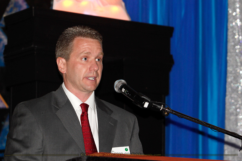 Gary Shooter of Possert Construction Company accepts the award for business with 11-25 employees during the Better Business Bureau's Eclipse Integrity Awards dinner at Sinclair Community College's Ponitz Center in downtown Dayton, Tuesday, May 14 2013.