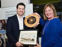 Repro FREE: Paul Killoran, ExOrdo, Galway's Best Young Entrepreneur, IBYE 2016 Awarded by Local Enterprise Office Galway with Breda Fox LEO Galway at the Portershed. <br /> Photo:Andrew Downes, xposure
