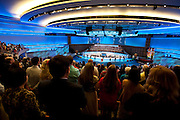 The view from the balcony during the first service at the new $130 million campus for First Baptist Dallas on Easter Sunday, March 31, 2013. (Cooper Neill/The Dallas Morning News)