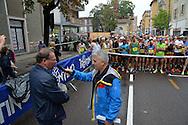 Trento Half Marathon, Trento 2 ottobre 2016 la partenza il Sindaco Alessandro Andreatta, © foto Daniele Mosna