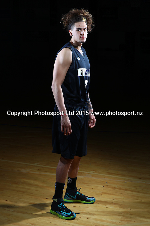 Isaac Fotu, Tall Blacks, New Zealand national basketball team profile shots. Breakers Gym, Auckland. 17 July 2015. Copyright Photo: William Booth / www.photosport.nz