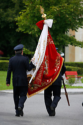 CZECH REPUBLIC VYSOCINA NEDVEZI 30JUL11 - Voluntary firemen and dignitaries from the village of Nedvezi lay a wrath to commemorate fallen WW I soldiers who were born in the village...This year marks the 120th anniversary of the voluntary firemen in Nedvezi, Vysocina, Czech Republic.....jre/Photo by Jiri Rezac....© Jiri Rezac 2011