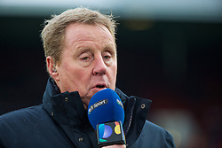 LONDON, ENGLAND - Saturday, January 2, 2016: Former West Ham United manager Harry Redknapp working for BT Sport before the Premier League match between West Ham United and Liverpool at Upton Park. (Pic by David Rawcliffe/Propaganda)