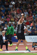 Tom Walsh who broke a Commonwealth Games record throw of 21.24 during qualifying for the Men's Shot Put. Track and Field at Hampden Park. Glasgow Commonwealth Games 2014. Sunday 27 July 2014. Scotland. Photo: Andrew Cornaga/www.Photosport.co.nz
