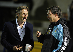 Wycombe Wanderers Manager Gareth Ainsworth with Bristol Rovers Manager Darrell Clarke - Mandatory byline: Neil Brookman/JMP - 07966 386802 - 06/10/2015 - FOOTBALL - Memorial Stadium - Bristol, England - Bristol Rovers v Wycombe Wanderers - JPT Trophy