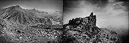 Though centuries of wars have been fought in both countries, the colder climate would make it impossible to live to high in the mountains in Afghanistan (L) as people do in impressive tower houses in the Haraz Mountains of Yemen (R) because it sits south of the Tropic of Cancer.  Sana'a sits at 15 degrees north latitude which is comparible to Manila, Philippines, while Kabul sits at 34 degrees north latitude which is comparible to Osaka, Japan. Unlike in Afghanistan, where snow is common in winter, most Yemeni's even in the highlands have never seen snow.