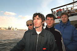 LIVERPOOL, ENGLAND - Liverpool band Space photographed on a Mersey Ferry in Liverpool. Jamie Murphy, Tommy Scott, Andy Parle, Franny Griffiths. (Pic by David Rawcliffe/Propaganda)