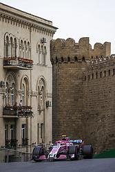April 28, 2018 - Baku, Azerbaijan - OCON Esteban (fra), Force India F1 VJM11, action during the 2018 Formula One World Championship, Grand Prix of Europe in Azerbaijan from April 26 to 29 in Baku  (Credit Image: © Hoch Zwei via ZUMA Wire)