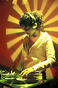 Miss Que Tee.<br /> First UK Asian female DJ<br /> Nishaan Club Night, 'Sisters on Stage'.<br /> The DRUM Cultural Centre, Birmingham, England, March 2004