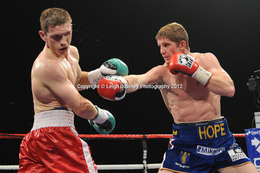 Grzegorz Proksa defeats Kerry Hope for the EBU Middleweight Title at the Motorpoint Arena, Sheffield, United Kingdom on the 7th July 2012. Promoted by Matchroom Sport. ©Leigh Dawney Photography 2012.