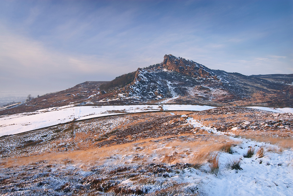 The Roaches, a gritstone escarpment in the Staffordshire Moorlands, in the grip of winter