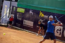 June 16, 2018 - L'Aquila, Italy - Manuel Sanchez during match between Zhizhen Zhang (CHN) and Manuel Sanchez (MEX) during day 1 at the Interzionali di Tennis Citt dell'Aquila (ATP Challenger L'Aquila) in L'Aquila, Italy, on June 16, 2018. (Credit Image: © Manuel Romano/NurPhoto via ZUMA Press)