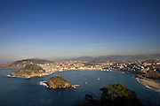 A view of San Sebastian bay, San Sebastian, Spain.