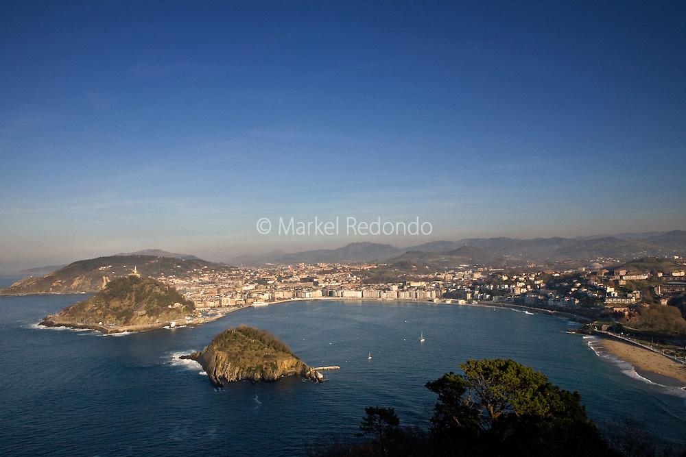 A view of San Sebastian bay, San Sebastian, Spain.