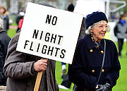 © Licensed to London News Pictures. 27/04/2013. London, UK A rally against Heathrow expansion takes place today 27th April on Barn Elms Playing Field in Barns, West London.  The rally organised by MP Zac Goldsmith included Mayor of London, Boris Johnson, Cabinet Minister Justine Greening, and many other MPs, MEPs, Council Leaders, and campaigners as speakers. Photo credit : Stephen Simpson/LNP