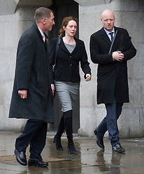 © London News Pictures. 08/03/2013. London, UK. Former Chief Executive Officer of News International REBEKAH BROOKS (centre) leaving The Old Bailey court in London where she faces charges related to the police investigation into phone hacking at News International and payments to officials. Photo credit: Ben Cawthra/LNP