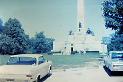 Photos taken by George Look.  Image started as a color slide.  Converted to black and white via computer software.  Dust and other artifacts may exist.<br /> <br /> <br /> Lincoln Tomb, Springfield Illinois circa 1966