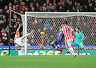 Marko Arnautovic of Stoke City scores the first goal against Chelsea during the Barclays Premier League match at the Britannia Stadium, Stoke-on-Trent.<br /> Picture by Michael Sedgwick/Focus Images Ltd +44 7900 363072<br /> 07/11/2015