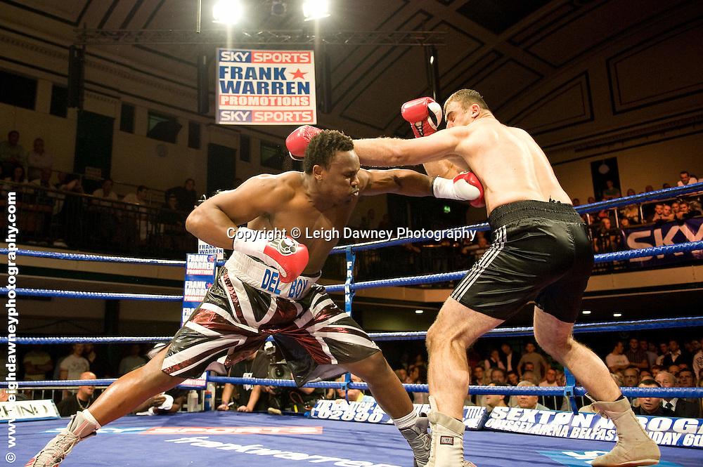Derek Chisora defeats Zurab Noniashvili at York Hall, Bethnal Green 9th ocotber 2009. Frank Warren Promotions.Credit: ©Leigh Dawney Photography