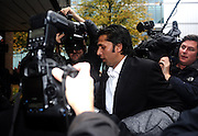 03/11/2011 - Pakistan cricketers match fixing sentence - Crown Court Southwark London - Mohammad Asif makes his way into court - Photo: Charlie Crowhurst / Offside.
