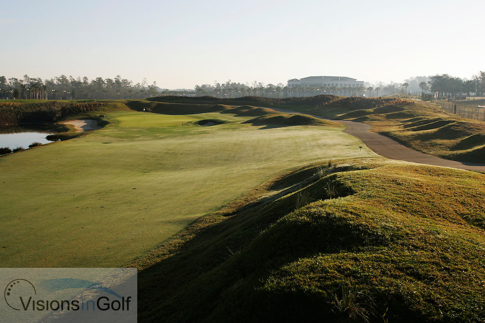 The 7th hole The International Course, Champions Gate, Florida USA. Designed by Greg Norman<br /> <br /> Photo Mark Newcombe