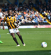 Ben Purkiss looking to pass the ball during the Sky Bet League 1 match between Bury and Port Vale at Gigg Lane, Bury, England on 19 September 2015. Photo by Mark Pollitt.