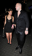 05.MAY.2010 - LONDON<br /> <br /> AMELLE FROM THE SUGARBABES LEAVING ALTO CLUB IN SOHO LOOKING WORSE FOR WEAR WITH BOYFRIEND TOM BENN WHO HAS WHITE POWDER ALL OVER HIS SHIRT AND WHEN AMELLE GOT IN THE CAR YOU CAN SEE HER SELULITE.<br /> <br /> BYLINE: EDBIMAGEARCHIVE.COM<br /> <br /> *THIS IMAGE IS STRICTLY FOR UK NEWSPAPERS AND MAGAZINES ONLY*<br /> *FOR WORLD WIDE SALES AND WEB USE PLEASE CONTACT EDBIMAGEARCHIVE - 0208 954 5968*