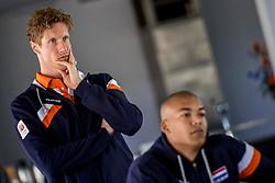 10-05-2017 NED: Persconferentie Nederlands volleybal team mannen 2017, Arnhem<br /> Op Papendal werd de eerste persconferentie gehouden van het Nederlands volleybalteams mannen / Kay van Dijk #12