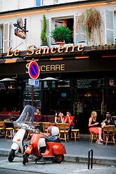 FRANCE PARIS 27JUL07 - Le Sancerre Cafe in Montmatre, a trendy area of Paris.. . jre/Photo by Jiri Rezac. . © Jiri Rezac 2007. . Contact: +44 (0) 7050 110 417. Mobile:  +44 (0) 7801 337 683. Office:  +44 (0) 20 8968 9635. . Email:   jiri@jirirezac.com. Web:    www.jirirezac.com. . © All images Jiri Rezac 2007 - All rights reserved.