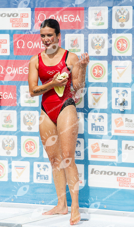BADER Anna GER<br /> Women Competition <br /> FINA High Diving World Cup 2014<br /> Kazan Tatartsan Russsia RUS Aug. 8 to 10 2014<br /> Kazanka River  Day02 - Aug.9 <br /> Photo G. Scala/Deepbluemedia