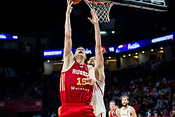 Timofey Mozgov of Russia vs Pau Gasol of Spain during basketball match between National Teams  Spain and Russia at Day 18 in 3rd place match of the FIBA EuroBasket 2017 at Sinan Erdem Dome in Istanbul, Turkey on September 17, 2017. Photo by Vid Ponikvar / Sportida