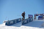Rose Battersby during Women's Ski Slopestyle Practice at the 2013 X Games Aspen at Buttermilk Mountain in Aspen, CO.  Brett Wilhelm/ESPN