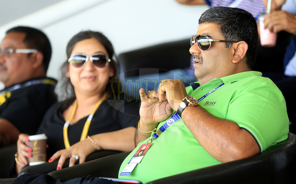 IPL Chairman Ranjib Biswal during match 16 of the Pepsi Indian Premier League 2014 between the Delhi Daredevils and the Mumbai Indians held at the Sharjah Cricket Stadium, Sharjah, United Arab Emirates on the 27th April 2014<br /> <br /> Photo by Sandeep Shetty / IPL / SPORTZPICS