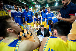 Bostjan Kuhar, head coach of Hopsi Polzela during basketball match between KK Hopsi Polzela and KK Helios Suns in semifinal of Spar Cup 2018/19, on February 16, 2019 in Arena Bonifika, Koper / Capodistria, Slovenia. Photo by Vid Ponikvar / Sportida