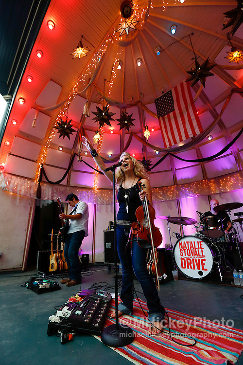 Natalie Stovall and The Drive perform at the Rathskeller in Indianapolis, Indiana.